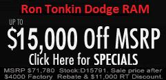 Ron Tonkin Dodge Specials & Incentives